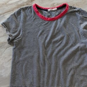 Rag & bone blue white striped t-shirt top L